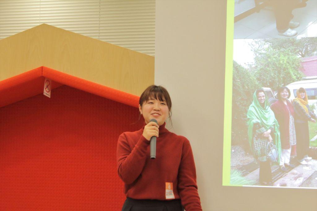 第2回コンペティションのICRC賞受賞者の石川奈津美さん。2019年11月に2週間、障がい者とソーシャルインクルージョンをテーマにパキスタンを取材した