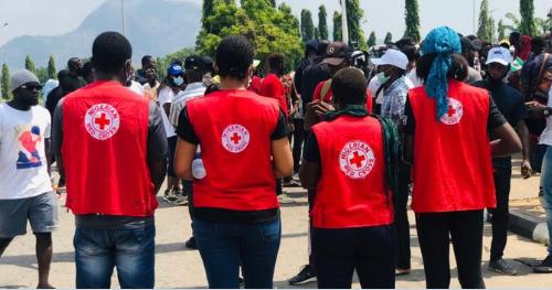 ナイジェリア赤十字社の職員
