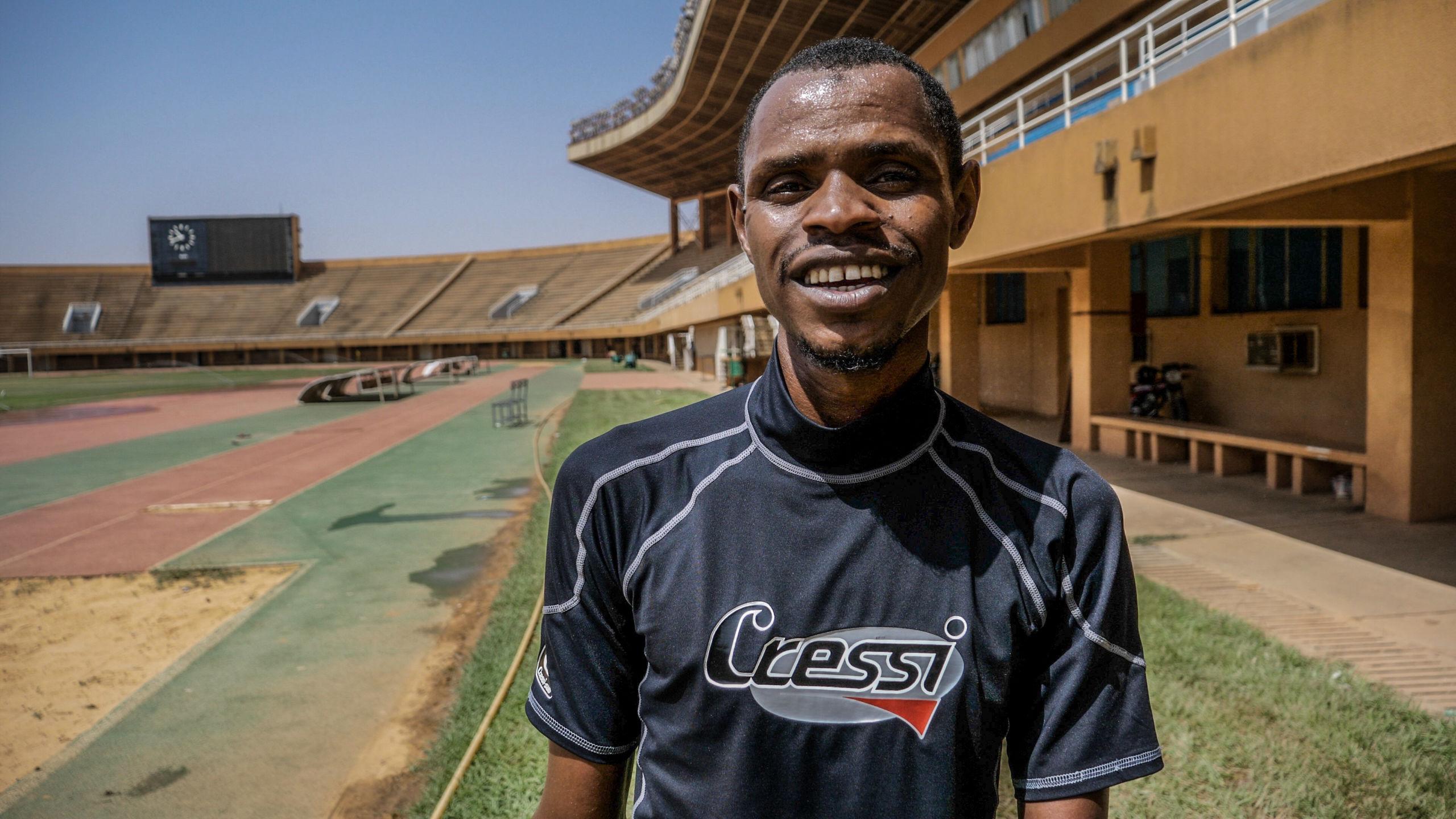 ニジェール選手団の1人として出場するイブラヒム・ダヤボー。