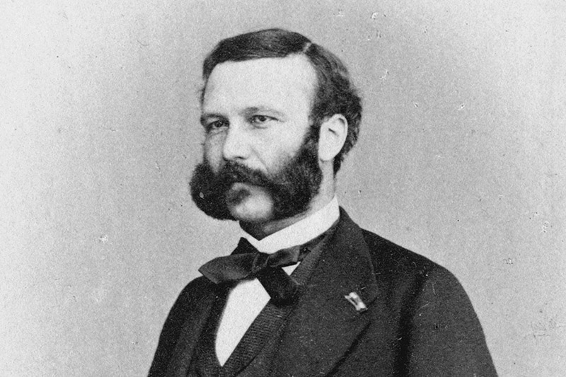 A photo of Henry Dunant