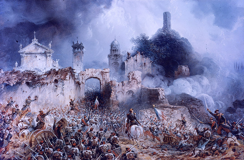 The Spanish Army's triumph at Bailén was the French Empire's first land defeat. Painting by José Casado del Alisal