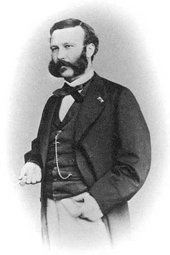 A photo of Henry Dunant, co-founder of the Red Cross