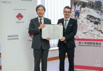早稲田大学との共同研究に関わる合意文書に署名―イノベーションを人道支援の現場に役立てる